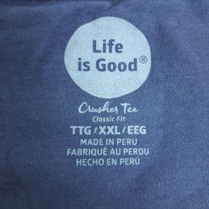 Life Is Good Tops - Life is Good Crusher Tee Nashville Flip Flops Blue